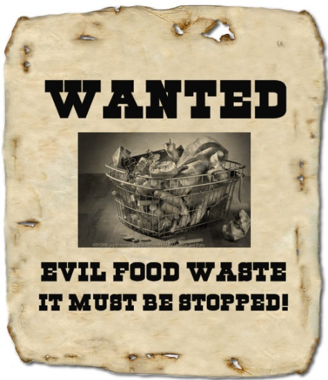 Food waste wanted sign