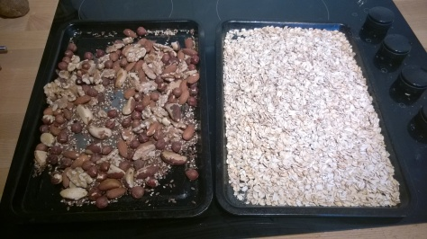 easy recipe for toasted nut granola