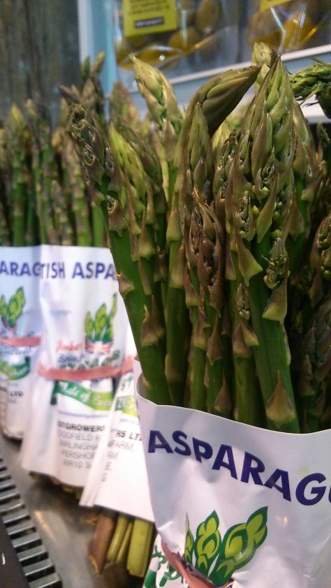 seasonal British asparagus