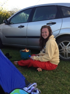 lazy girl camping