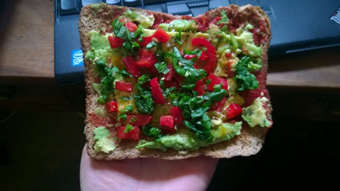 Easy vegan Avocado pizza toast recipe