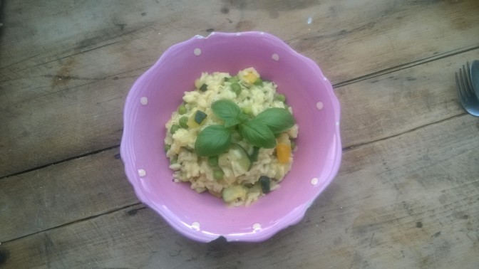 summer vegetable vegan risotto