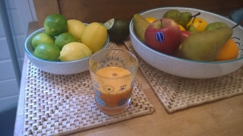 orange lemon and ginger juice