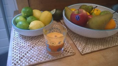 orange lemon and ginger juice