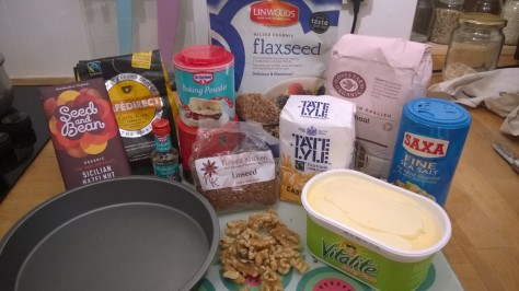vegan chocolate brownie ingredients