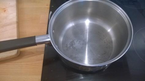remove burnt pan