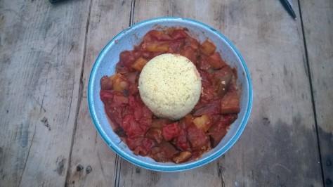spicy vegan aubergine tagine recipe