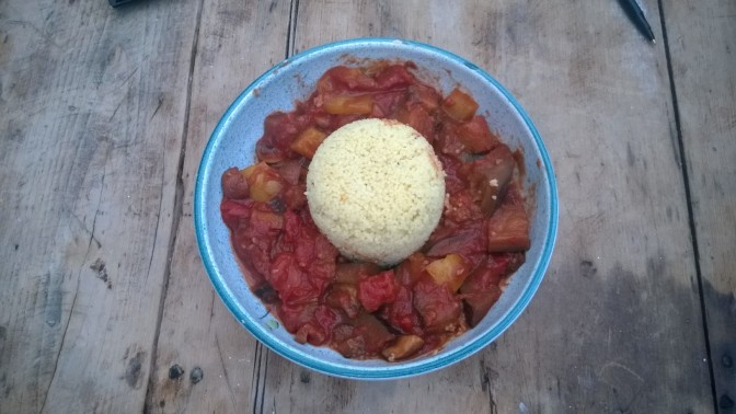 Lazy Vegan Recipe: Spicy Aubergine Tagine and Lemon Couscous