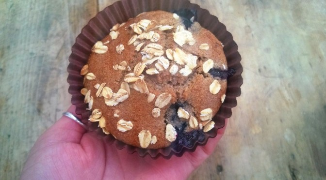 Lazy Recipe; Moist & Healthy Vegan Blueberry Muffins