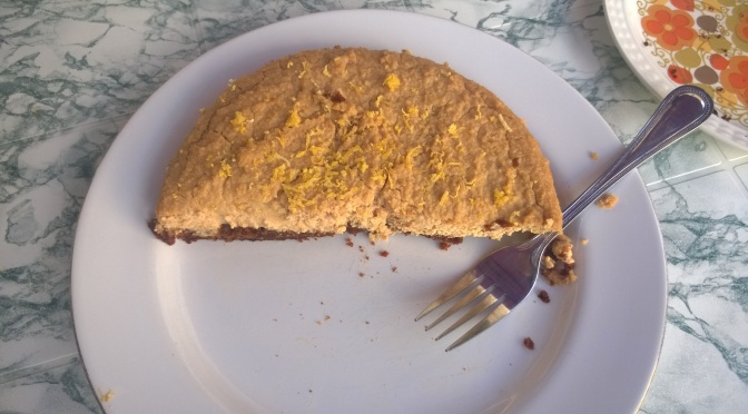 Lazy Vegan Recipe: Lemon and Ginger Tofu Cheesecake