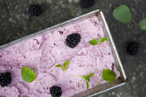Fig, Coconut and Blackberry Vegan Icecream by Green Kitchen
