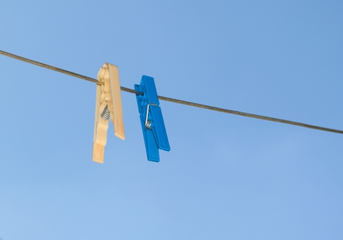 empty washing line