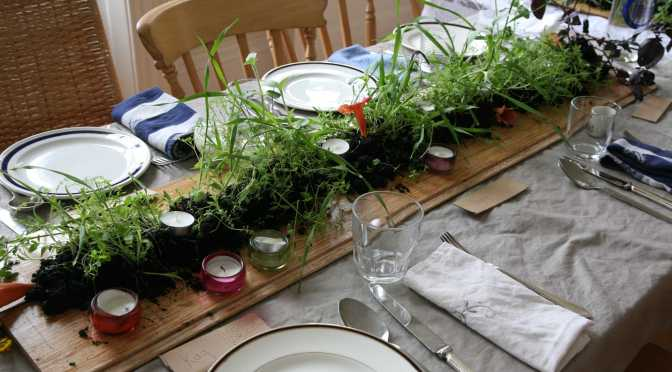 Make your own 'living' table centrepiece