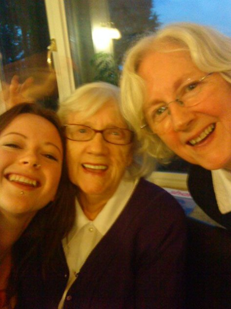 Me and my two wonderful nans, they know the value of things