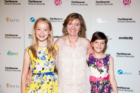 Ecover Young Green Champions Andover Trees United at the Observer Ethical Awards 2015, held at the V&A Museum in London