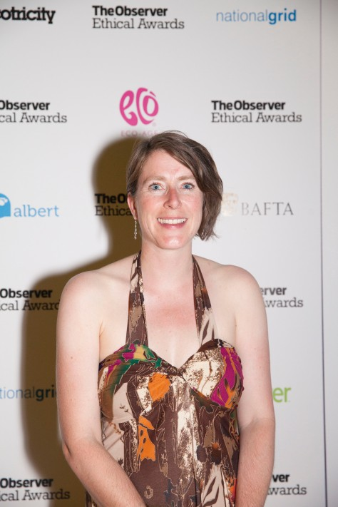 Anna Watson at the Observer Ethical Awards 2015, held at the V&A Museum in London