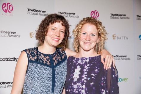 Community Energy project award winners Plymouth Energy Community at the Observer Ethical Awards 2015, held at the V&A Museum in London