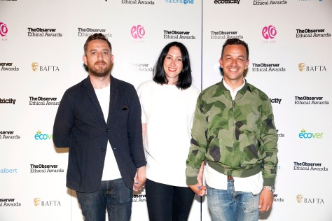 Sustainable Style award winners Nudie Jeans at the Observer Ethical Awards 2015, held at the V&A Museum in London