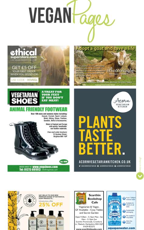 Vegan life adverts