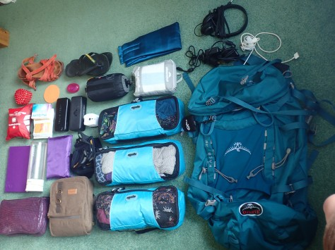 Packing list for one year backpacking