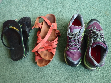 1 year backpacking shoes essentials
