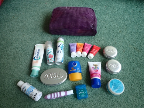 1 year backpacking toiletries essentials